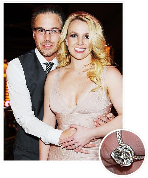 Biggest Celebrity Engagement Rings - Britney Spears and Jason Trawick