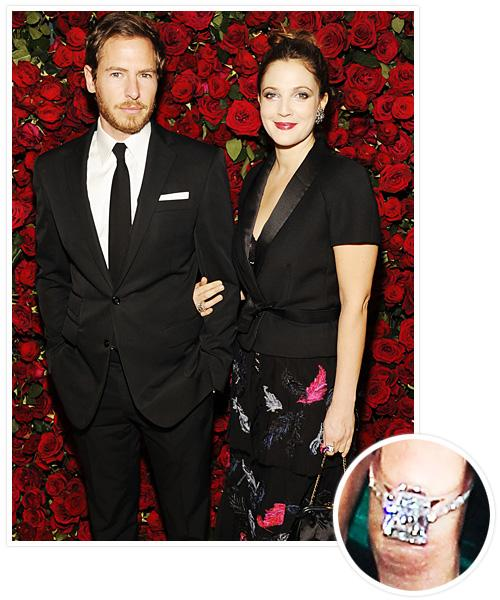 Biggest Celebrity Engagement Rings - Drew Barrymore and Will Kopelman