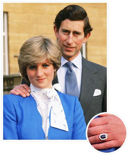 Biggest Celebrity Engagement Rings - Princess Diana and Prince Charles