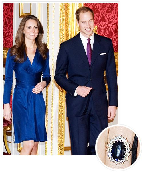 Biggest Celebrity Engagement Rings - Kate Middleton and Prince William