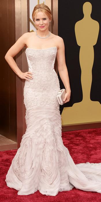 Oscars 2014 - Kristen Bell in Roberto Cavalli with Piaget jewels