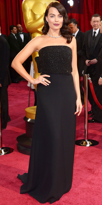Oscars 2014 - Margot Robbie in Saint Laurent with Forevermark jewels