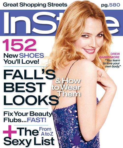 InStyle Covers - September 2006, Drew Barrymore