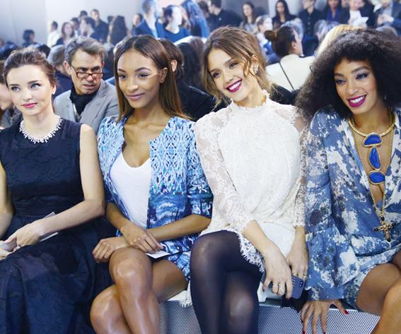 Miranda Kerr, Jourdan Dunn, Jessica Alba, and Solange Knowles