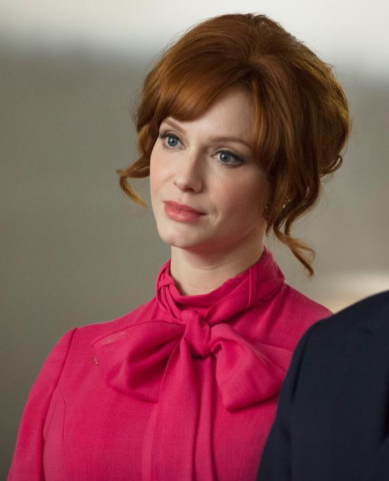 Christina Hendricks as Joan Harris and John Slattery as Roger Sterling Mad Men Season 7, Episode 4