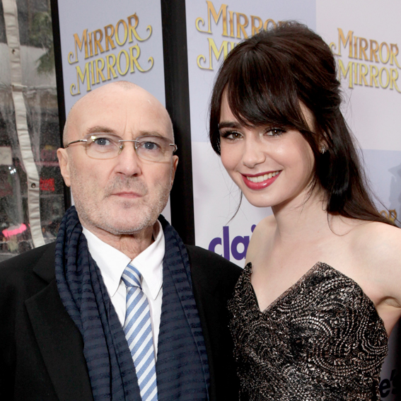 Lily and Phil Collins