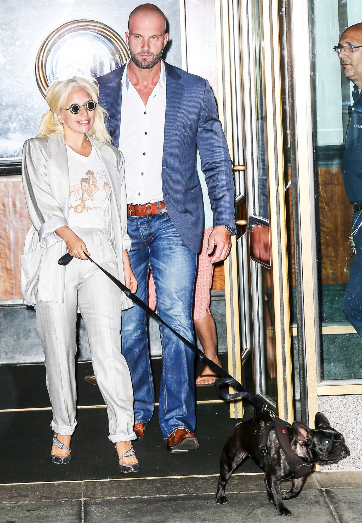 INF - Lady Gaga Leaves Her Apartment With Her Dog En Route To Radio City Music Hall
