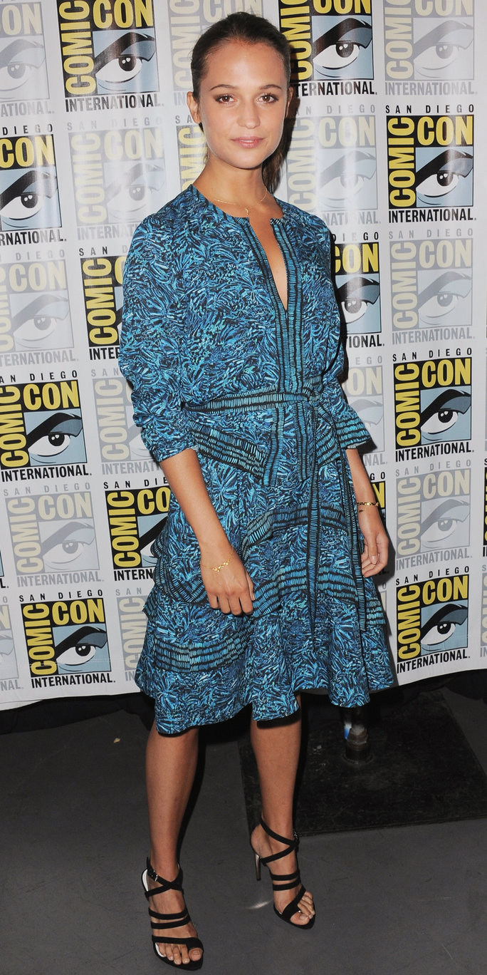 Actress Alicia Vikander attends the Warner Bros. 'The Man from U.N.C.L.E.' presentation during Comic-Con International 2015 at the San Diego Convention Center on July 11, 2015 in San Diego, California.