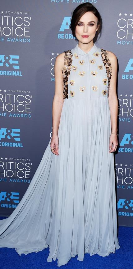 Critics Choice Awards: Keira Knightley in Delpozo