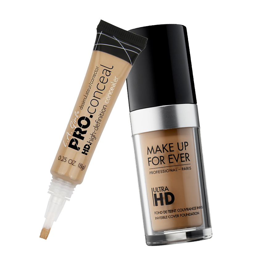 LA Girl Pro Conceal and Makeup Forever HD Invisible
