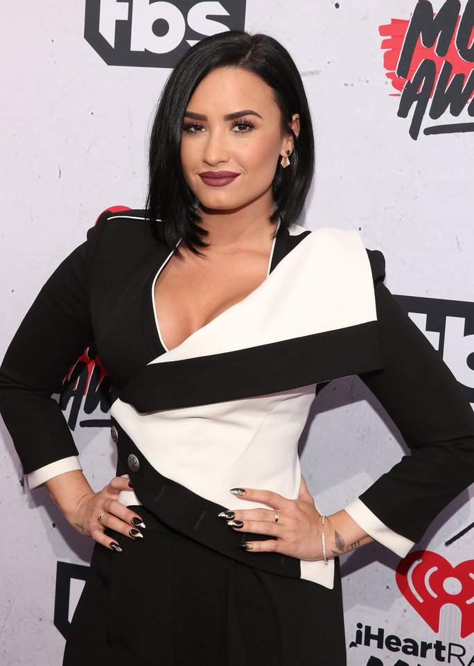 Demi Lovato attends the iHeartRadio Music Awards at the Forum on April 3, 2016 in Inglewood, California.
