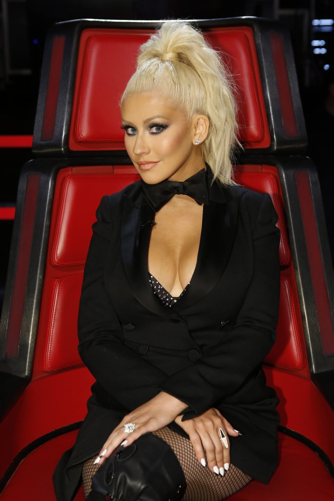 THE VOICE --  Live Top 11  Episode 1014B  -- Pictured: Christina Aguilera -- (Photo by: Trae Patton/NBC/NBCU Photo Bank via Getty Images)