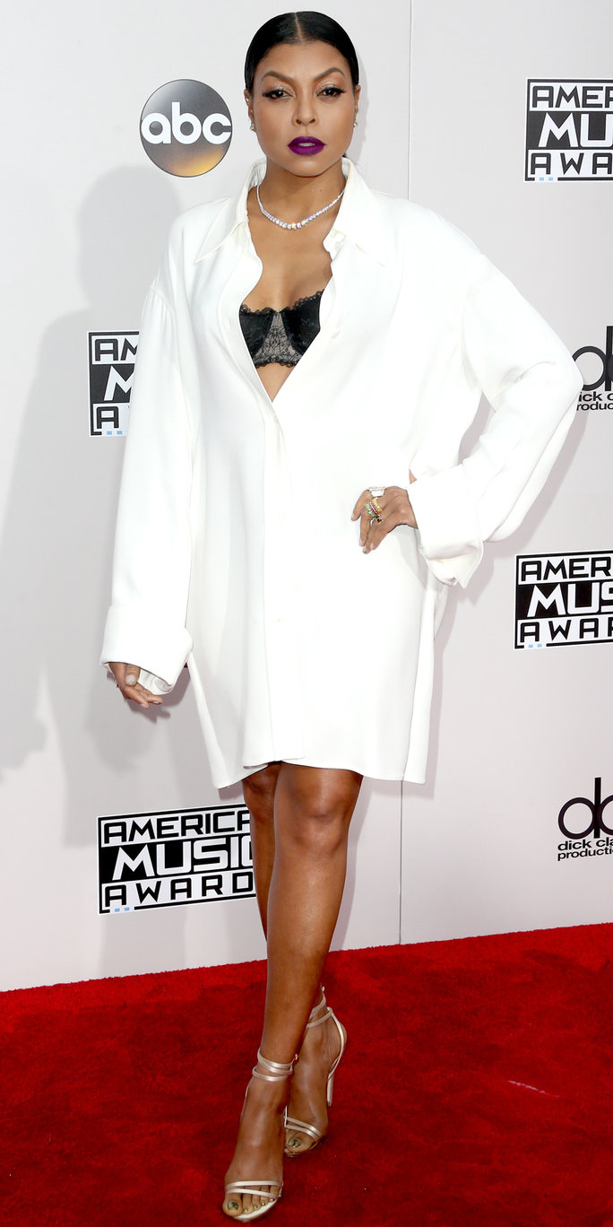 Actress Taraji P. Henson attends the 2016 American Music Awards at Microsoft Theater on November 20, 2016 in Los Angeles, California.