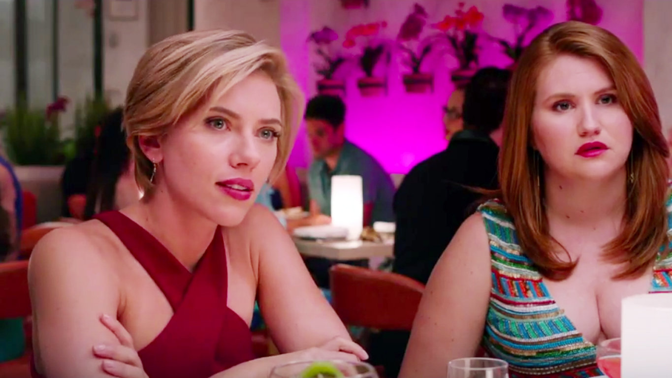Scarlett Johansson Parties Hangover Style In The Rough Night Trailer Video Instyle Com