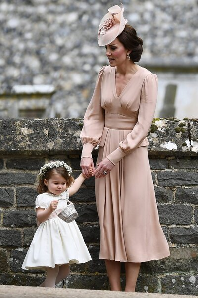 aebd0efdf4 Kate Middleton Wore a Blush Dress to Pippa s Wedding and It s ...
