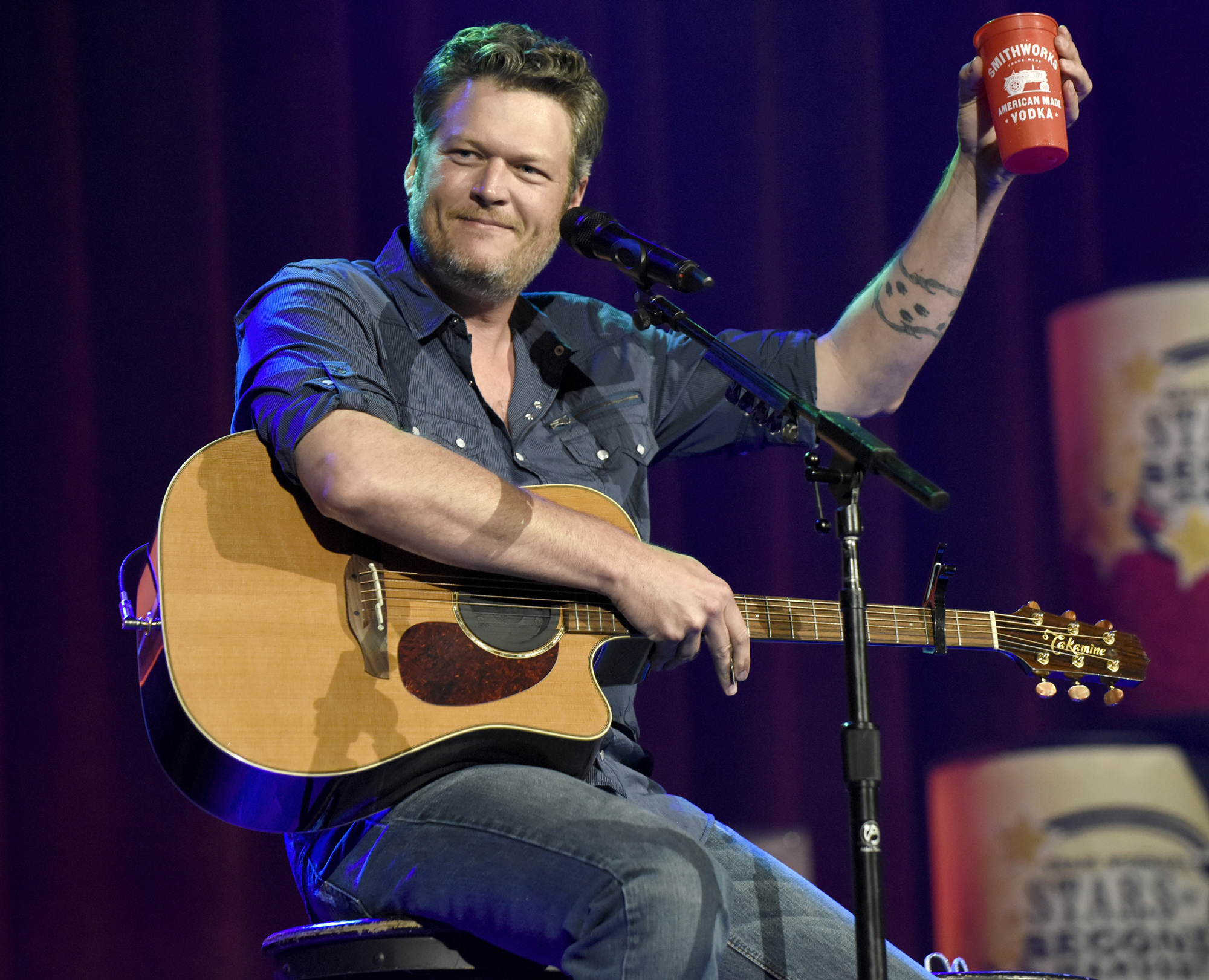 Blake Shelton Stars Second Harvest Benefit - LEAD