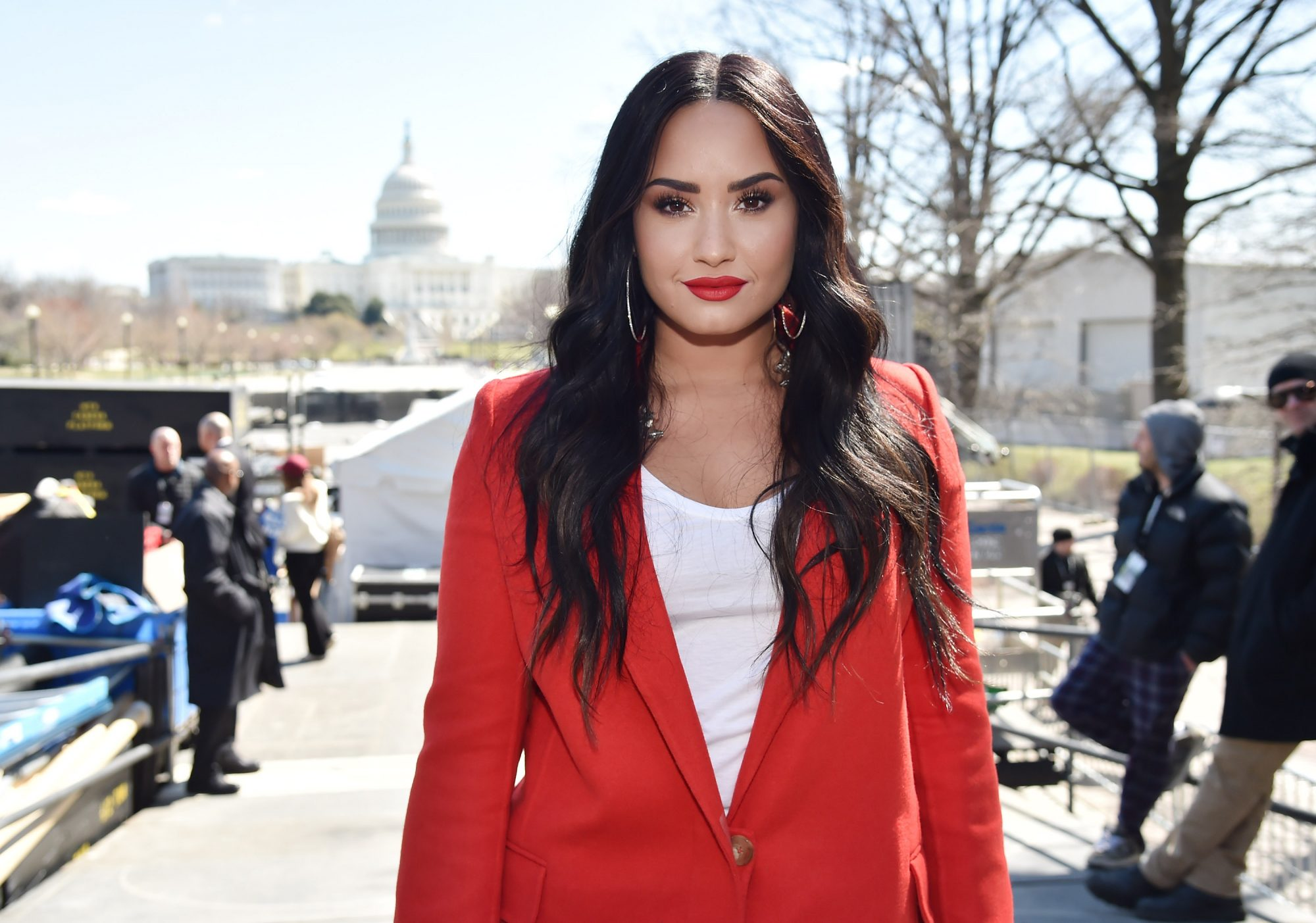 Demi Lovato March For Our Lives In Washington, DC