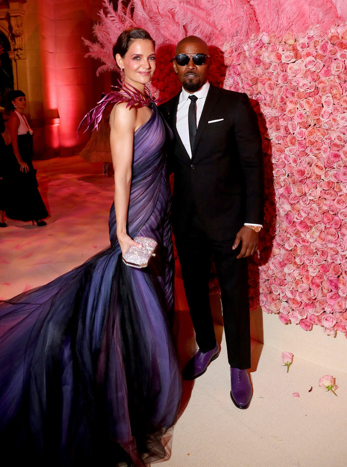 Katie Holmes and Jamie Foxx at the 2019 Met Gala Celebrating Camp: Notes on Fashion