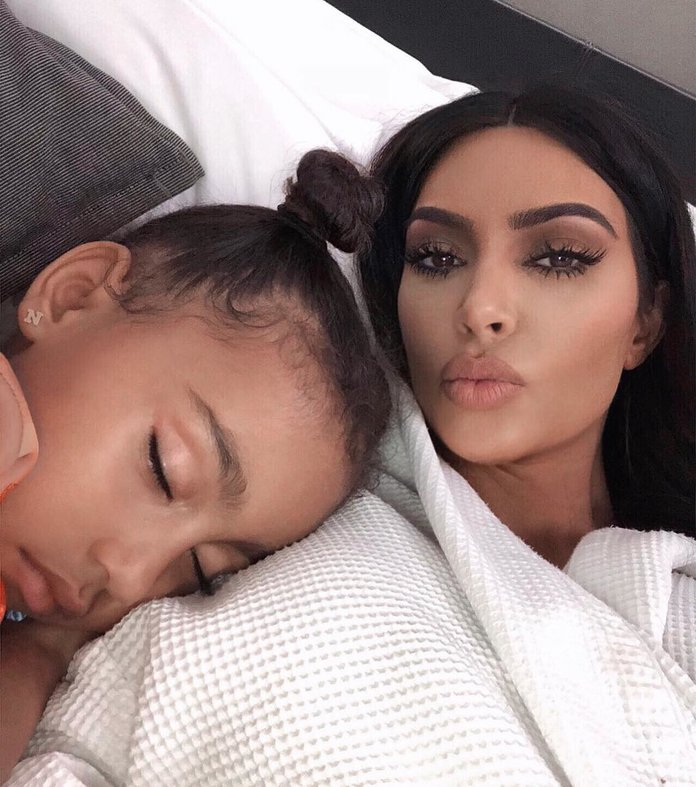 After Kanye West Banned Makeup, This Is What North West Got Into Instead