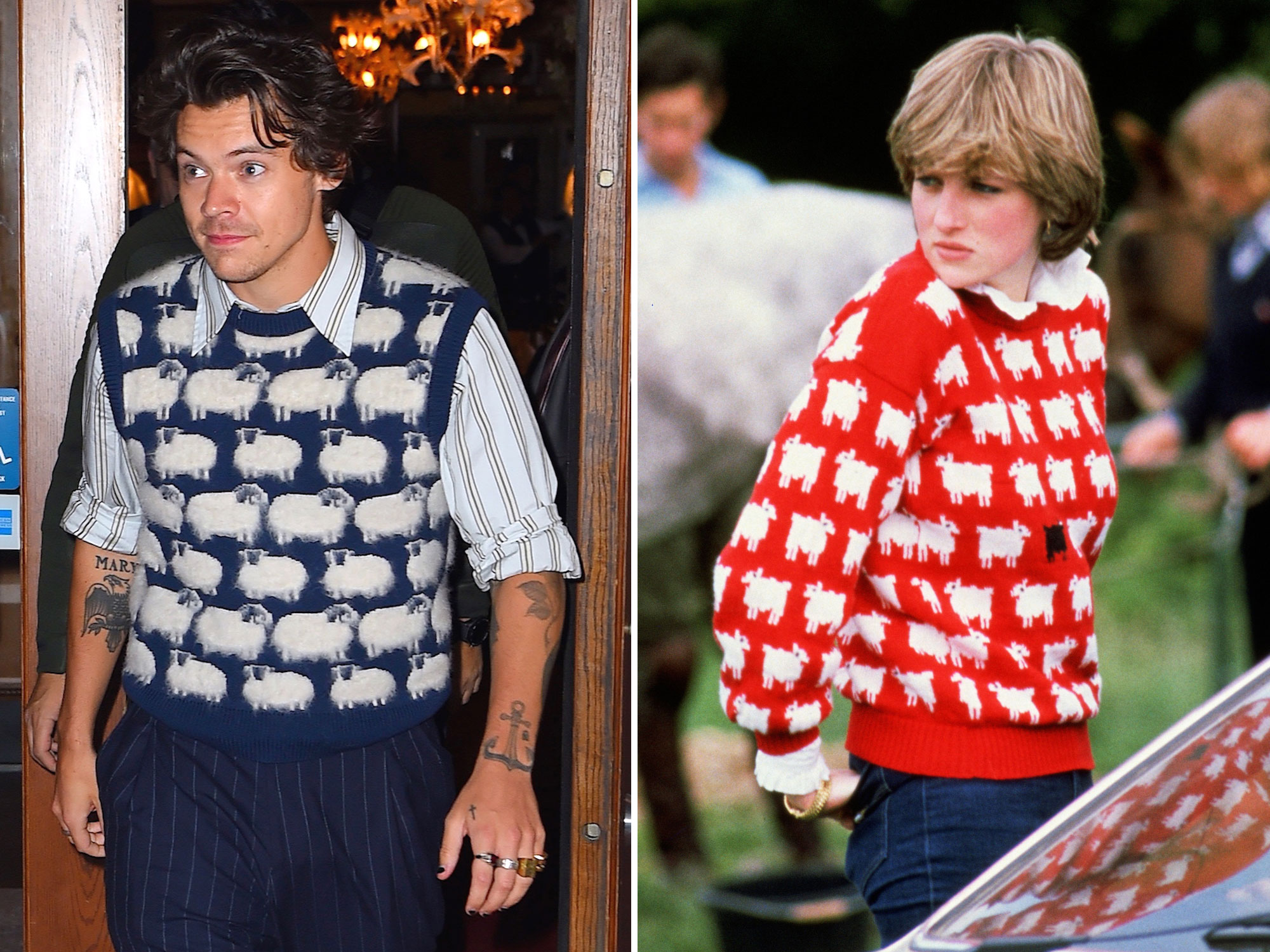 Harry Styles Princess Diana Sheep Sweater