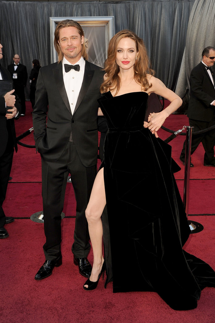 Angelina Jolie & Brad Pitt at the 84th Annual Academy Awards - Arrivals