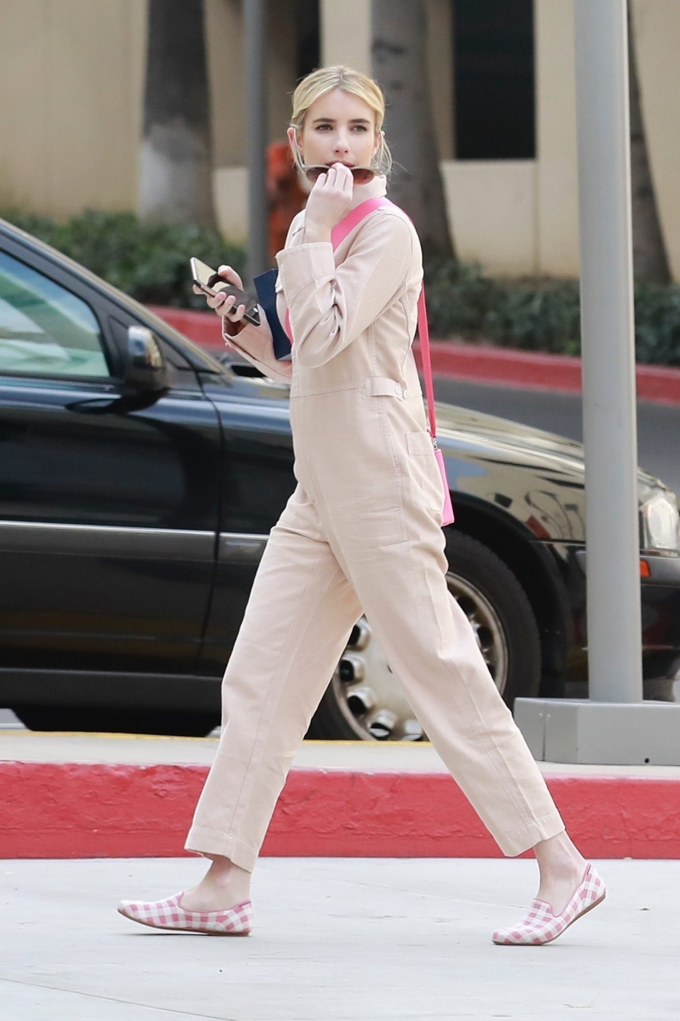 Emma Roberts wore this cute madewelll jumpsuit