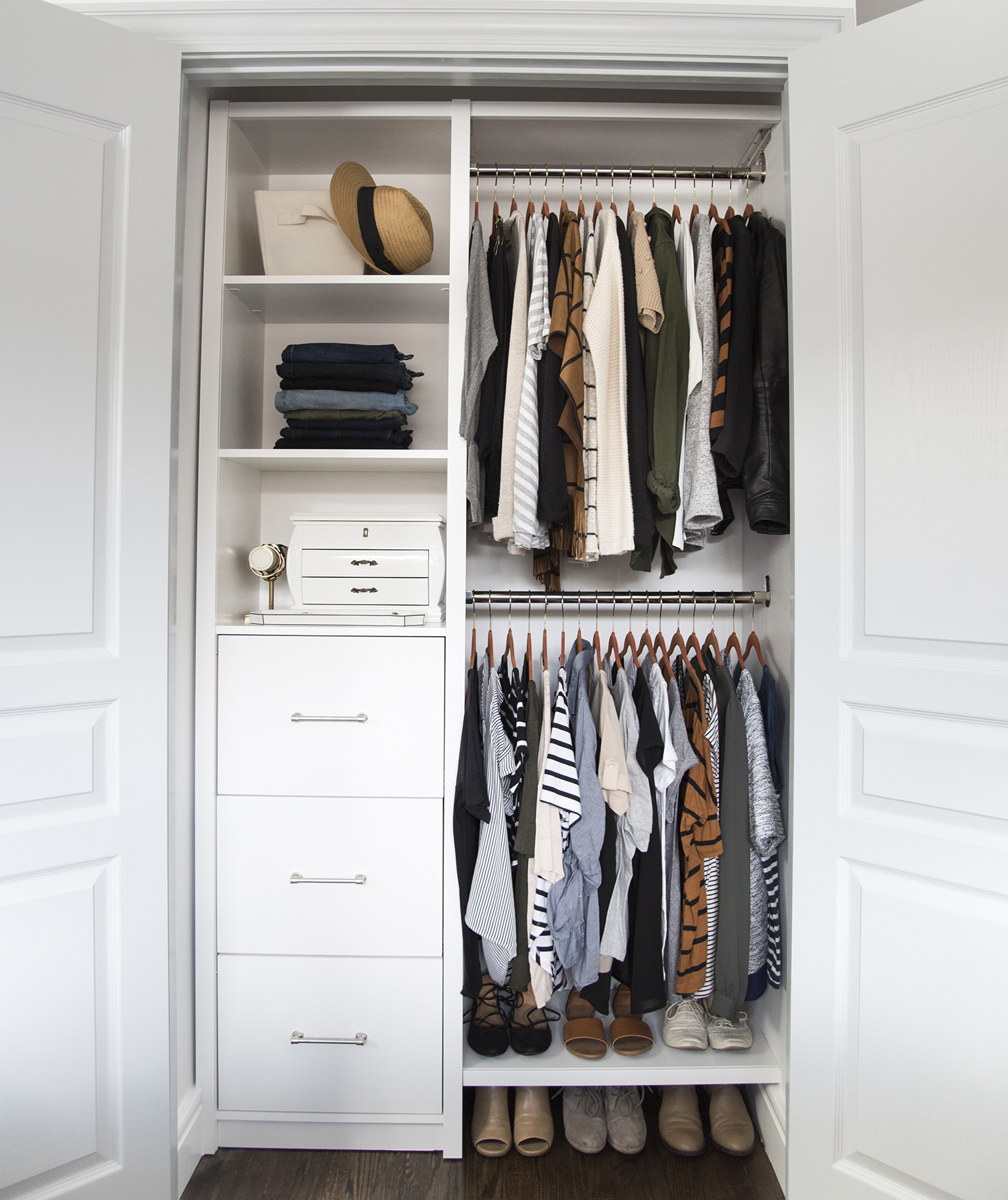 Room for Tuesday closet after