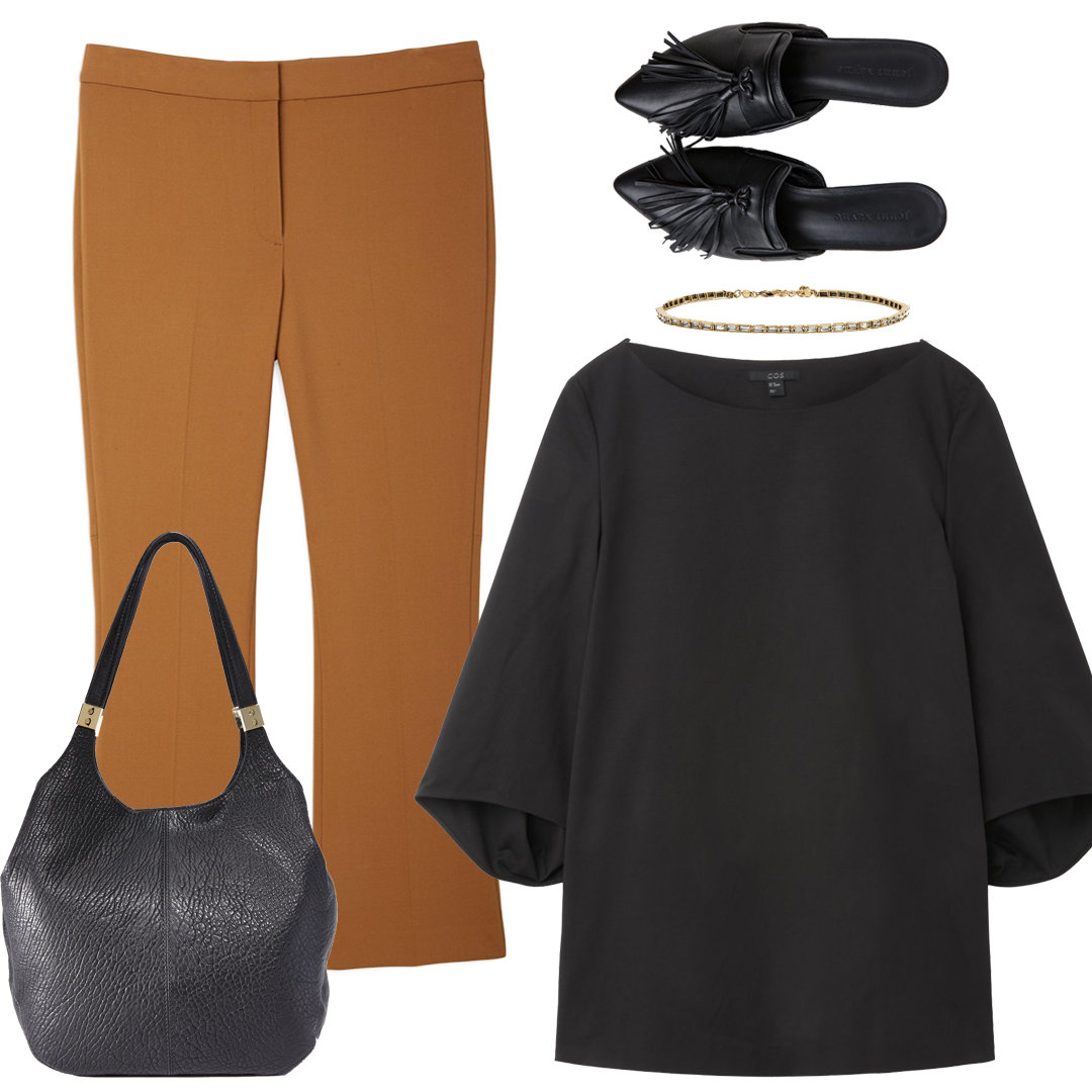 With Kick Flares + Structured Blouse