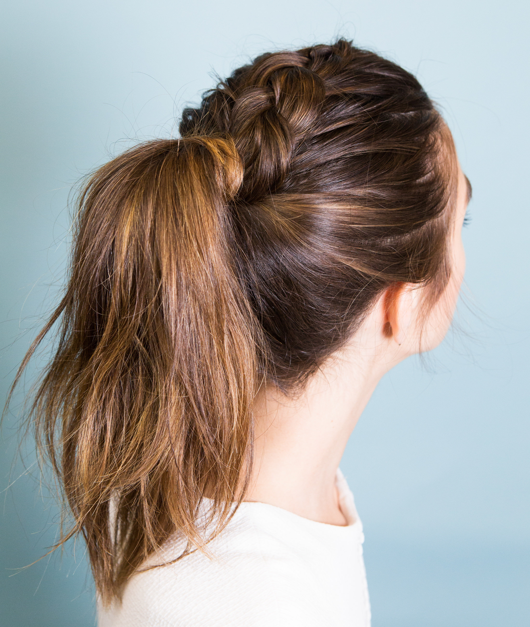 BRAIDS HOW-TO - Inside Out Pony Braid EMBED