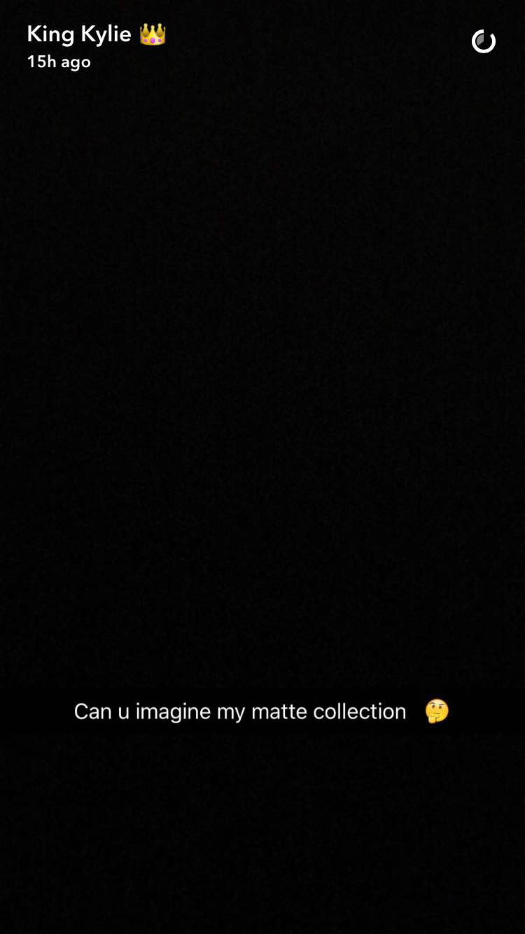 Kylie Jenner - Matte Collection - Snapchat EMBED 2