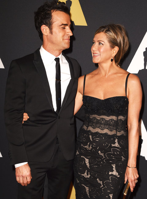 Justin Theroux and Jennifer Aniston at Governor Awards