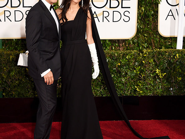 George and Amal Clooney at 2015 Golden Globes