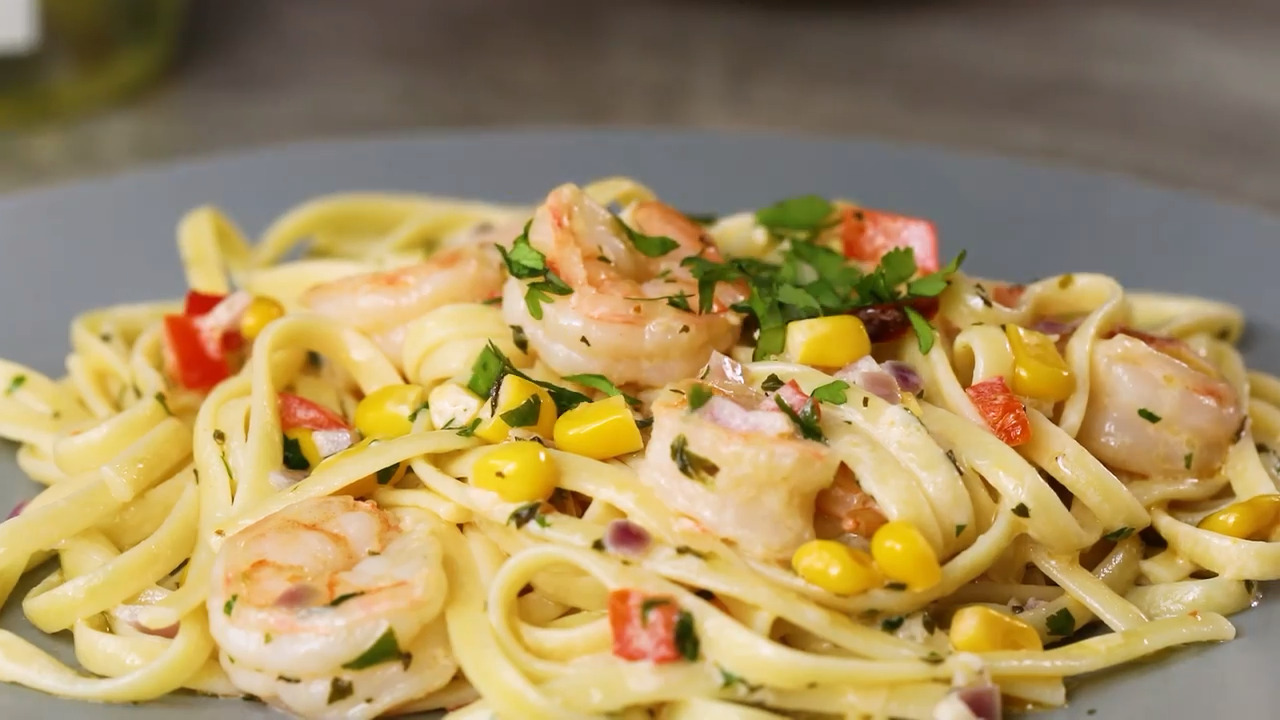 Linguine with Cajun-Spiced Shrimp and Corn