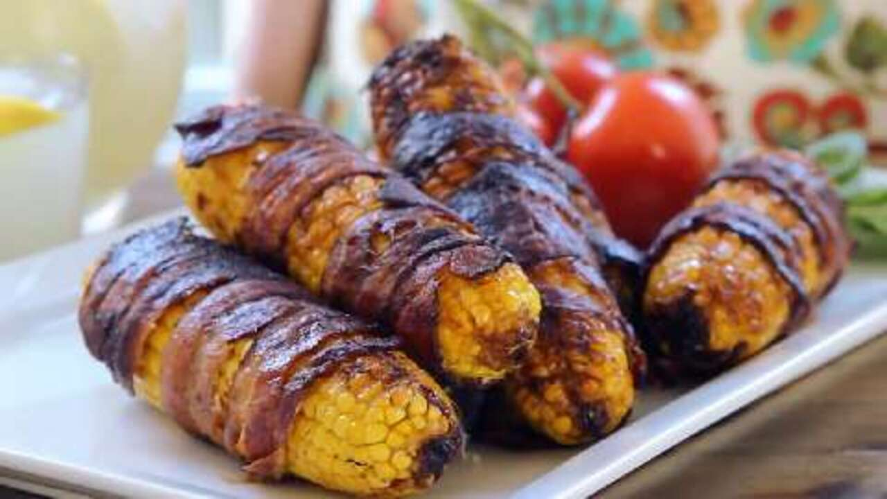 Grilled Bacon-Wrapped Corn on the Cob