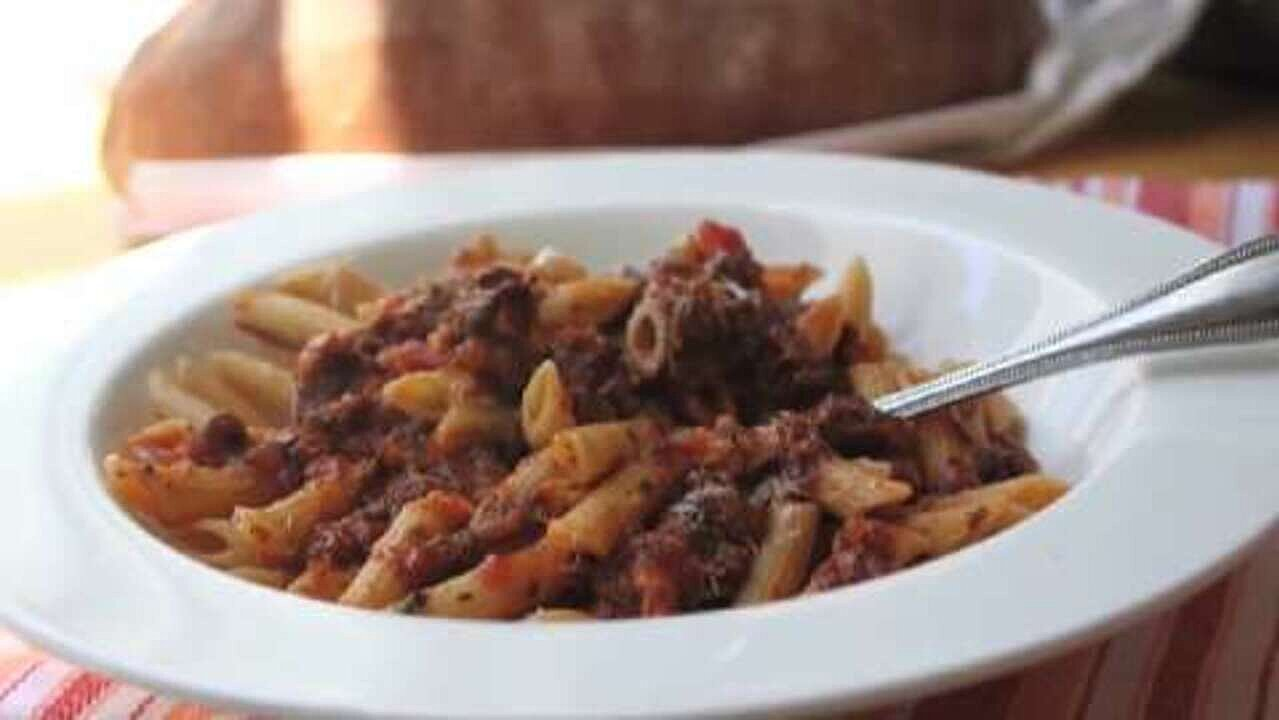 Penne Pasta with Simple Beef Neck Sauce