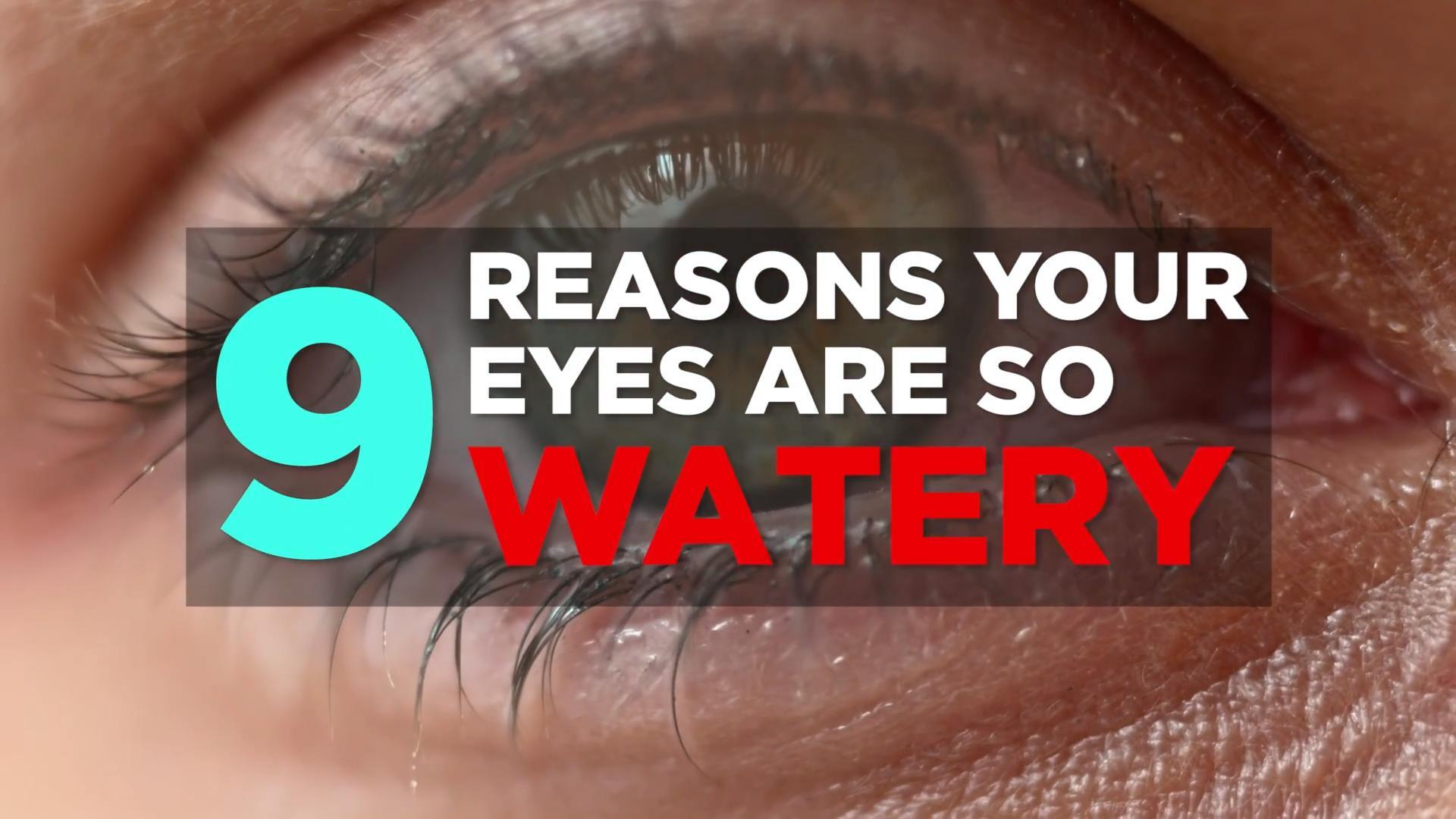 How to stop watery eyes