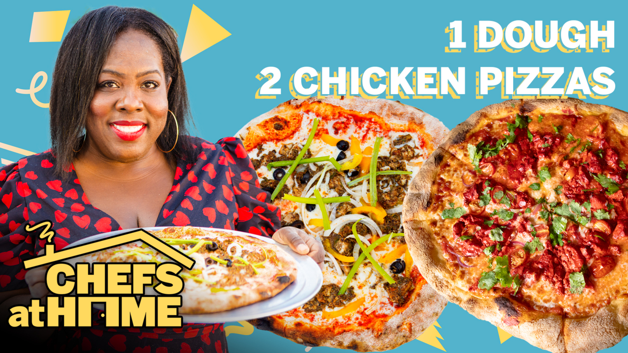 Watch: Nicole Russell Makes Two Chicken Pizzas with One Dough Recipe