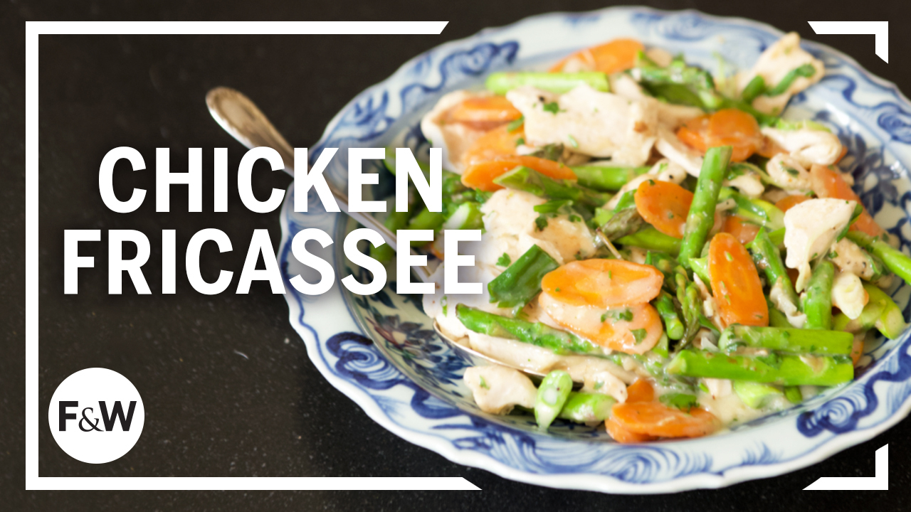 Chicken Fricassee Stir-Fry with Asparagus