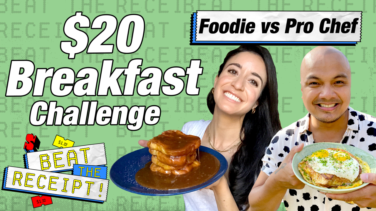 Watch: Beat the Receipt, Pro Chef and Foodie Make Breakfast for Under $20