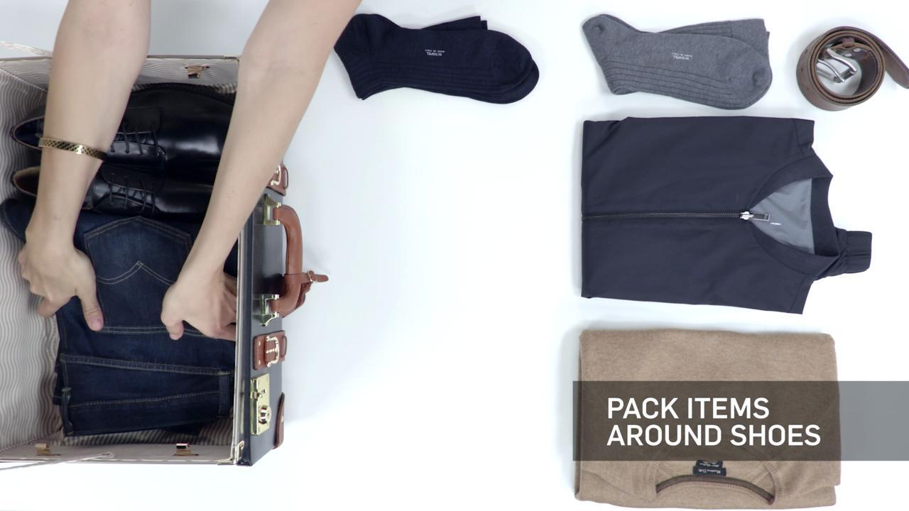 VIDEO: How to Pack Men's Dress Shoes