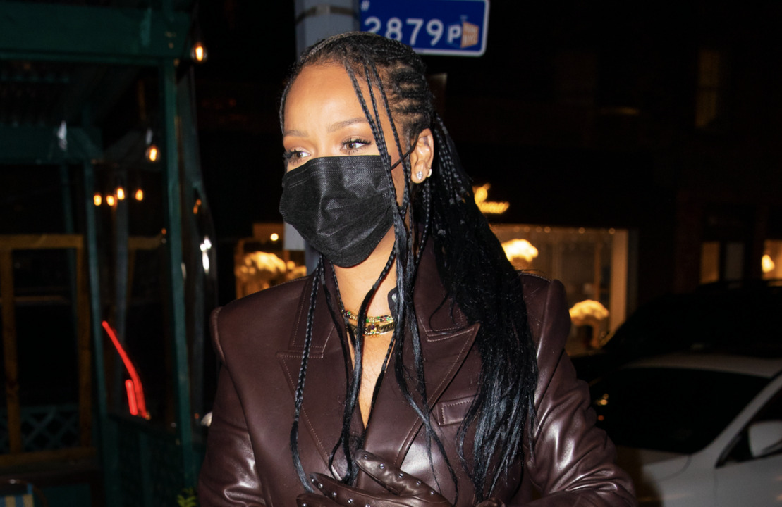 Rihanna Spotted In a Tiny Shimmery Fringe Dress on a Night Out With A$AP Rocky