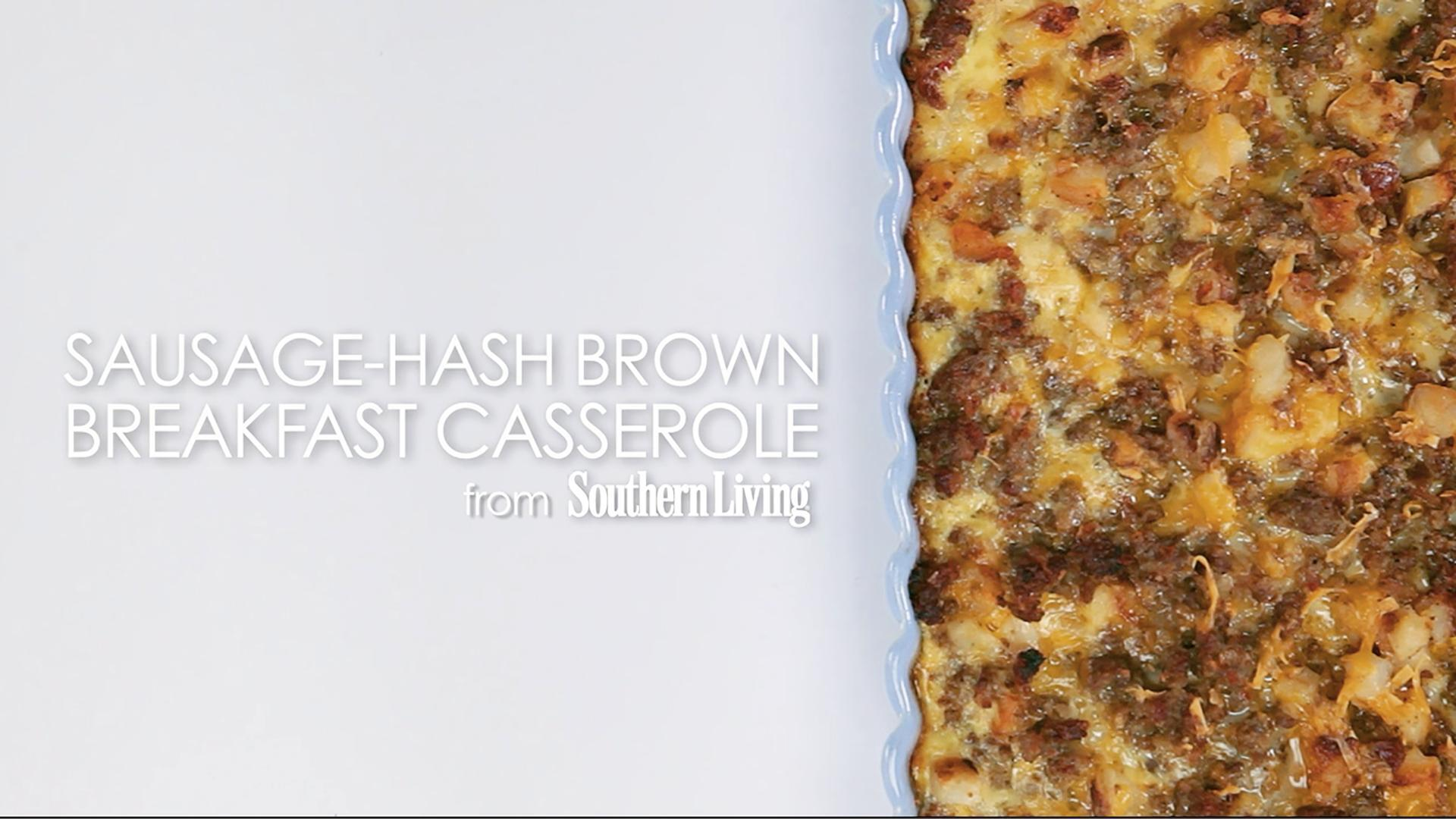 How to Make Sausage-Hash Brown Breakfast Casserole