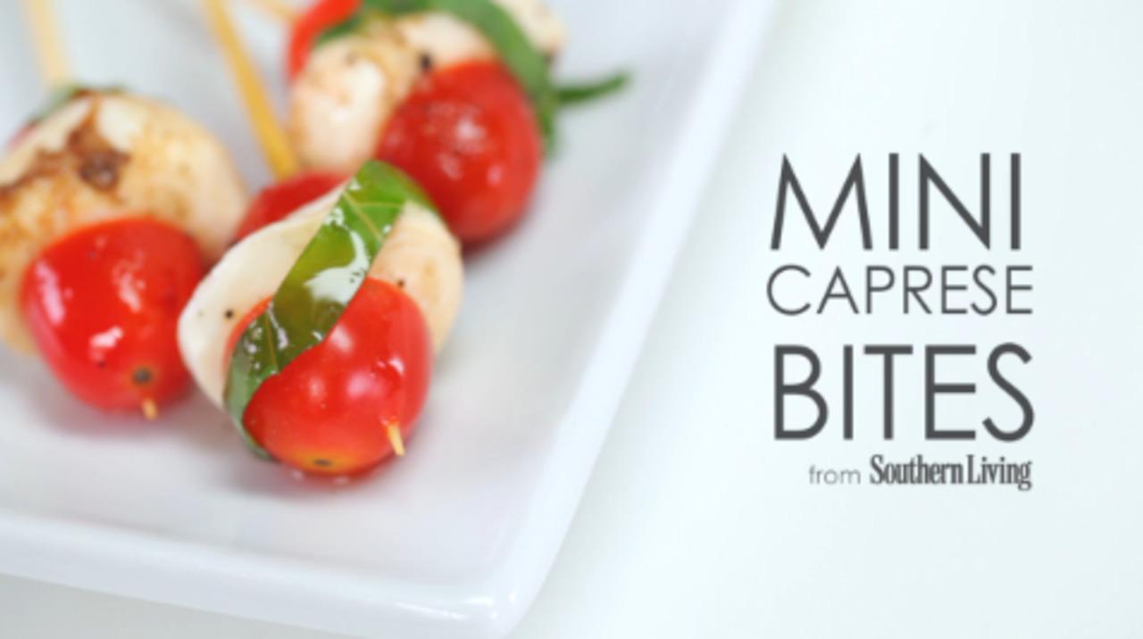 How to Make Mini Caprese Bites