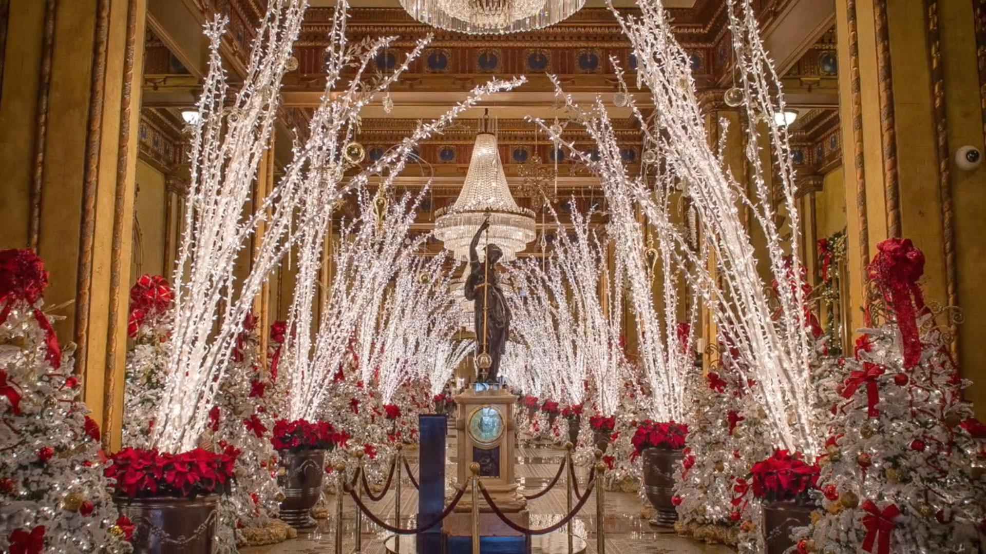 Watch The Historic Roosevelt Hotel Turn Into A Christmas Wonderland