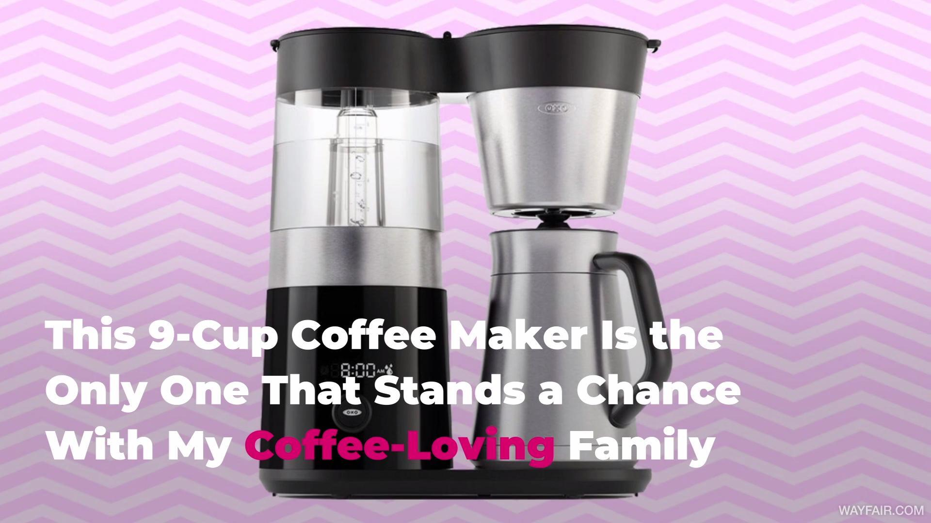 This 9-Cup Coffee Maker Is the Only One That Stands a Chance With My Coffee-Loving Family