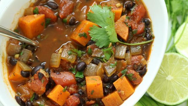 Sweet Potato & Black Bean Chili