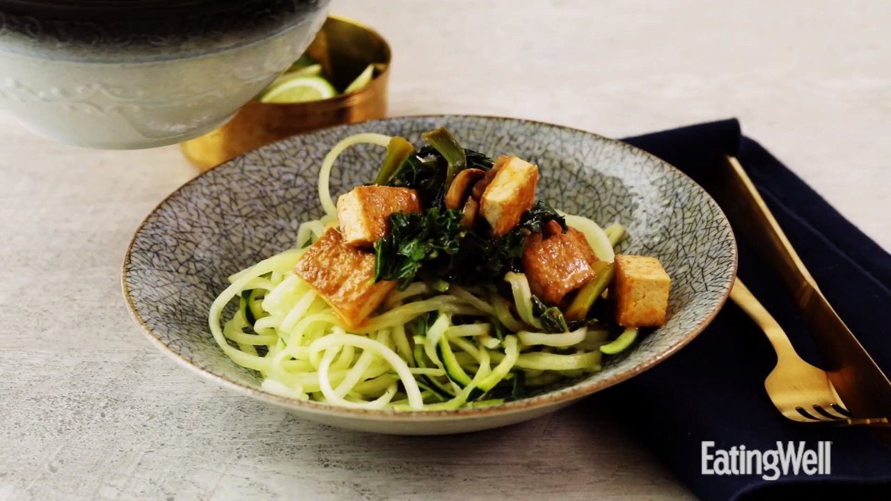Tofu & Vegetable Curry with Zucchini Noodles