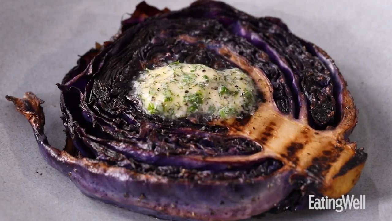 Red Cabbage Porterhouse Steaks with Herb Butter
