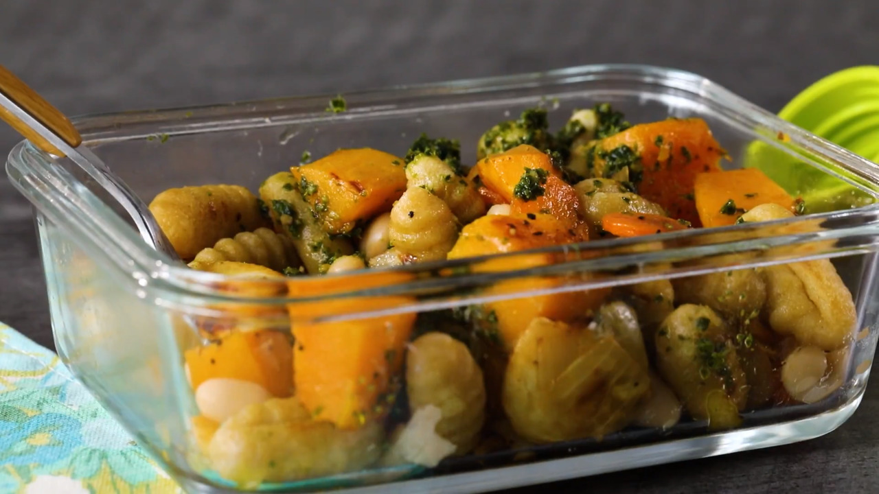 Roasted Butternut Squash & Root Vegetables with Cauliflower Gnocchi