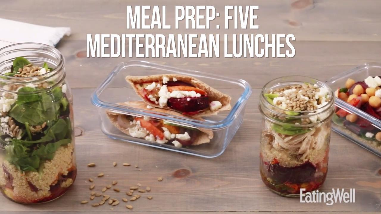 How to Meal-Prep 5 Mediterranean Lunches for the Week in Under an Hour